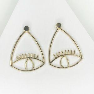 CLOSET REHAB Jewelry - Evil Eye Gold Drop Earrings
